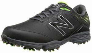 New Balance Men's nbg2004 Golf Shoe, Black/Green, 13 2E US