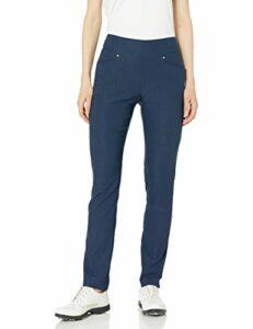 PGA Motionflux Pull on Pants Pantalon de Golf, Iris Noir, XL Femme