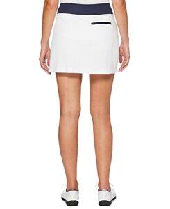 PGA TOUR Jupe-short de golf asymétrique coloré pour femme – blanc – XX-Large
