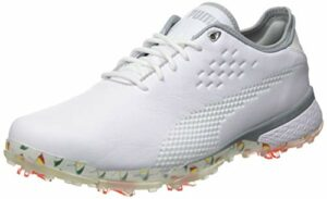 PUMA 193849, Chaussure de Golf Homme, White White, 42 EU
