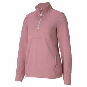 PUMA Golf 2020 Cloudspun 1/4 Zip 1/4 pour Femme, Femme, Fermeture éclair 1/4, 597712, Violet, XL