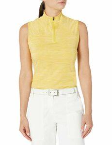 PUMA Golf 2020 Polo à col Montant pour Femme, Femme, Polo, 595829, Super Lemon Heather, XL
