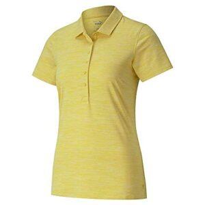 PUMA Golf 2020 Polo pour Femme, Femme, Polo, 595826, Super Lemon Heather, XL