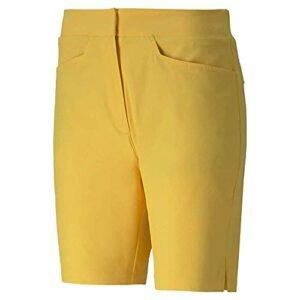 PUMA Pounce Bermuda de Golf pour Femme, Femme, Short, 577944, Super Citron, M