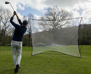 QUICKPLAY Filet de golf pour entraînement de frappe et écran de sport autonome 30,5 x 22,9 cm