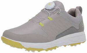 Skechers Men's Torque Twist Waterproof Golf Shoe, Gray/Lime, 12 M US