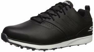 Skechers Mojo Chaussures de Golf imperméables pour Homme – Noir – Noir/argenté, 41 EU