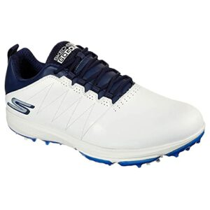 Skechers Pro 4 Legacy Chaussures de golf pour homme Blanc/bleu marine – Blanc – Blanc/bleu marine, 41 EU