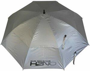 Sun Mountain H2NO Parapluie à Double auvent Argenté 62 cm