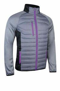 Sunderland Hommes Zermatt Full Zip Jacket Golf – Gunmetal/Noir/Ultraviolet – S