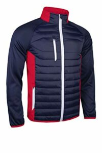 Sunderland Hommes Zermatt Full Zip Jacket Golf – Marine/Rouge/Blanc – S
