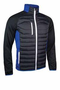 Sunderland Hommes Zermatt Full Zip Jacket Golf – Noir/Bleu/Blanc – S
