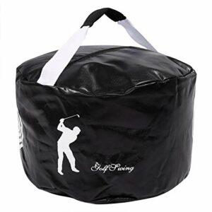 Surebuy Sac d'entraînement de Golf à Fort Impact, pour Le Coup de Swing de Golf(Black)