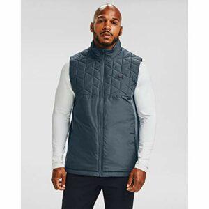 Under Armour Men's ColdGear Reactor Hybrid Vest , Mechanic Blue (467)/Black , Medium