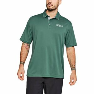 Under Armour Polo pour Homme Fish Tech S/M Toddy Green (370)/Olive Teinte
