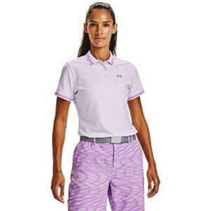 Under Armour Polo Zinger Pique Polo Femme Crystal Lilac/Exotic Bloom/ (570) FR: M (Taille Fabricant: MD)