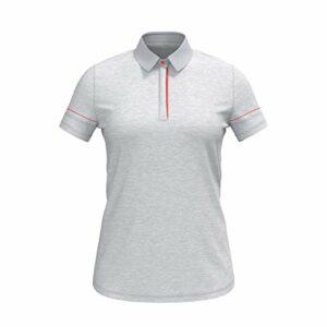Under Armour Women's Zinger Short-Sleeve Heather Golf Polo , Halo Gray (014)/Jet Gray , X-Large