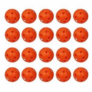 Zivisk Lot de 20 balles de golf d'entraînement creuses rouge