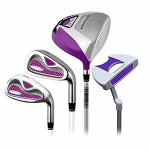 AWJ Fournitures de Pratique de Golf Ensemble de Golf Rod Ladies Half Set Golf Club Putter de Golf Rose Putter de Golf utilisé à Droite pour Les Femmes, 4 pièces pour la Pratique de Golf int