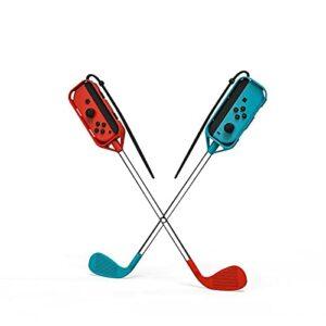 Ayaaa Clubs de golf compatibles avec les switch de golf, poignées de jeu gauche et droite, petits accessoires de jeu avec bracelets