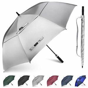 Gonex Parapluie Golf Automatique Parapluie Canne Parapluie Droit Résistant au Vent Ouverture Automatique 173cm