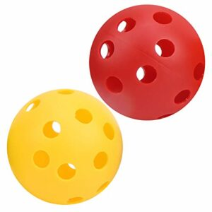 Lot de 12 balles de golf creuses pour entraînement de balançoire, 6 couleurs vives, légères pour l'intérieur et l'extérieur