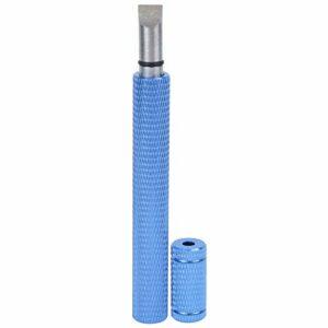 Aiguiseur de Golf en Acier Inoxydable Couteau de Nettoyage Club rainurage Outil d'affûtage Fournitures avec poignée en Alliage d'aluminium(Blue)