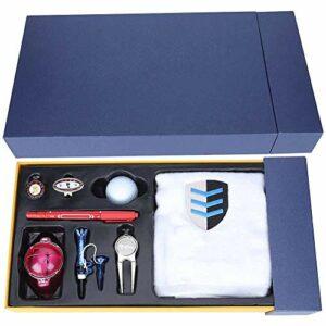 AMONIDA Kit d'outils de Golf Kit de Clip de Chapeau de marqueur de Balle de Golf, Ensemble d'outils de Golf Durable, à la Mode et Beau pour Les Hommes et Les Femmes, Joli Cadeau Accessoire de Golf