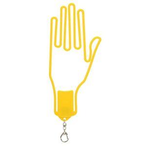 Cadre de Gants de, Gants de Keepers Gants Support Hanger 24.5×10.6×0.7cm/9.65×4.17×0.28inch Gants Keeper pour Toutes Les Tailles de Gants à Usage Domestique(Jaune)