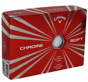 Callaway 2016 Balles de golf chromées souples (2 ou 3 ou 6 douzes), (blanc ou jaune ou motif Truvis), Homme, Blanc (3 douzes).