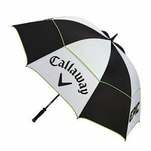 Callaway Tour Authentic Golf Epic Double Parapluie de 172cm, 2021 pour Hommes, Blanc, Noir, Vert