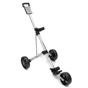 Chariot de pincement de golf de Deluxe Golf, pliant 3 charrettes de golf, chariot de golf léger robuste, push roller à pied de caddie, frein à pied une seconde à ouvrir, accessoires de golf pour