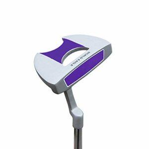 Clubs de Golf Putter de Golf en Alliage de Zinc en Acier Inoxydable Club de Golf Putter pour Hommes et Femmes Putter Semi-Circulaire Club Polyvalent et fiable (Couleur : Violet, Taille : 34,