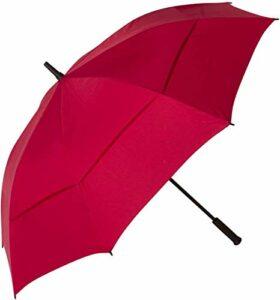 DJLOOKK Parapluie de Golf surdimensionné de 62 Pouces, Coupe-Vent, imperméable, Protection Solaire,Rouge