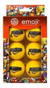 Emoji Coussin Unisexe Lot de 6balles de Golf Bandit Fantaisie, Multicolore
