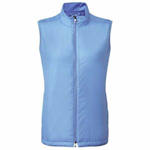 Footjoy Veste isolée à fermeture Éclair pour femme – Taille L – Bleu