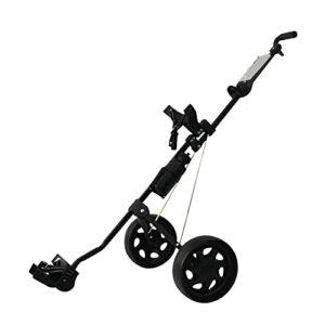 freneci Chariot de Golf Cart 2 Roues Push Pull – Chariot de Transport de Golf léger et Pliable pour Le Rangement du Sac de Golf ou des Accessoires