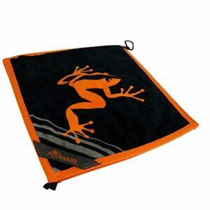 Frogger Golf Serviette de Golf Humide et Sec Amphibian, Orange/Noir, 35,6 x 35,6 cm