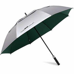 G4Free Parapluie de Golf 62/68 Pouces UV Protection Coupe-Vent Double Canopée Ouverture Automatique pour Hommes Femmes