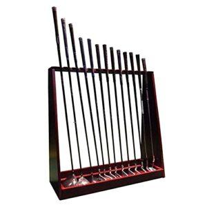 GAXQFEI Présentoir D'Organisateur de Club de Golf En Bois, Support de Rangement Pour Queue de Golf 13/18 Trous Pour Intérieur/Extérieur/Garage/Patio,18 Queue
