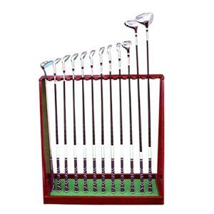 GAXQFEI Support de Club de Golf, Support de Rangement Pour Putter de Golf En Bois Pour Patio de Jardin Intérieur Extérieur, Cadre En Bois, Peut Contenir Jusqu'À 13 Clubs de Golf,80,5 × 30 × 80,5 Cm