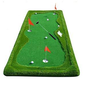 Golf Putting Green Bureau Putting Practice Couverture Tapis Portable Convient À La Maison, Au Bureau, À L'extérieur (Color : Green, Size : 100 * 300cm)