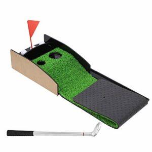 Jopwkuin Putting Green, Fait d'herbe simulée Mini de Haute qualité Putting Green pour pratiquer Le à l'intérieur