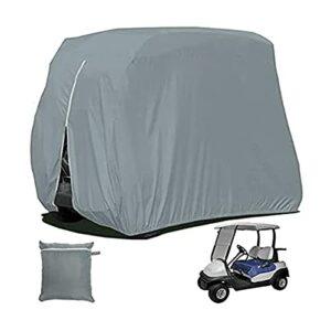JTYX Housses de chariot de golf 2 passagers en tissu Oxford 210D pour chariot de golf Yamaha