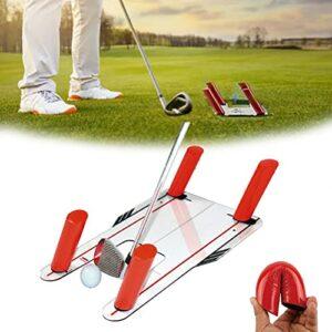 Knowoo Miroir d'alignement de putt de golf – Aide à la formation des yeux – Outil d'alignement de putt – 45,7 x 30,5 cm