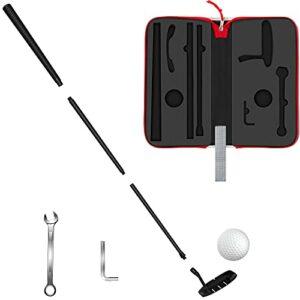 LEAGY Kit de golf de 86,4 cm, 4 sections, portable, meilleur putter de golf pour droitier, 1 balle de golf, 2 outils, 1 boîte de rangement – GPR20 Pro