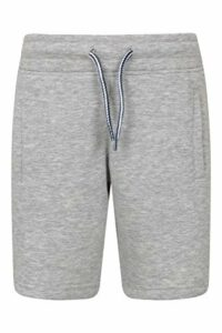 Mountain Warehouse Kids Jersey Shorts – Lightweight Summer Shorts for Boys & Girls. Adjustable Waistband & Easy Care Material. Durable & Great for Outdoors & Holidays Gris 13 Ans