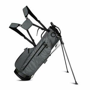 Multifonction Stand de golf Carry Bag Golf Club Sac de voyage Transport Panier de voiture Nylon Résistant à l'usure Poids Poids Golf Sac pour hommes et femmes ( Color : Grey , Size : 33x30x125cm )