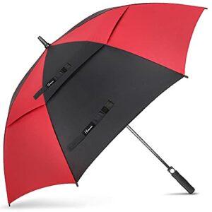 NINEMAX Parapluie de golf coupe-vent et imperméable – Ouverture automatique – Pour homme et femme – Double auvent aéré – Extra large – – 155 cm