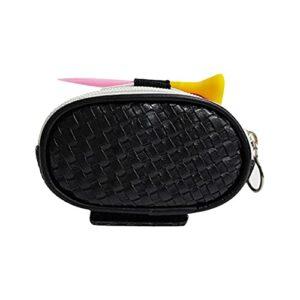 P12cheng Sac de rangement pour balles de golf – Artisanat exquis – Accessoire de golf – Durable – Noir